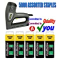 Stanley Electric Staple Nail Gun Stapler Nailer Tacker 0-TRE550 + 5000 Assorted Staples