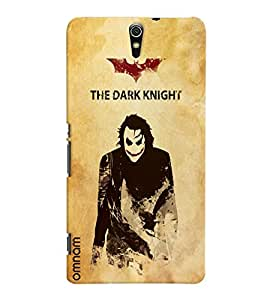 Omnam The Dark Knight Effect With Man Printed Designer Back Cover Case For Sony Xperia C5