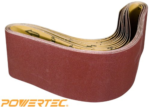 Why Should You Buy POWERTEC 110150 4-Inch x 36-Inch 240 Grit Aluminum Oxide Sanding Belt, 10-Pack