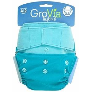GroVia® Shell Hook/Loop Closure- Surf-grovia, hybrid, cloth, diaper