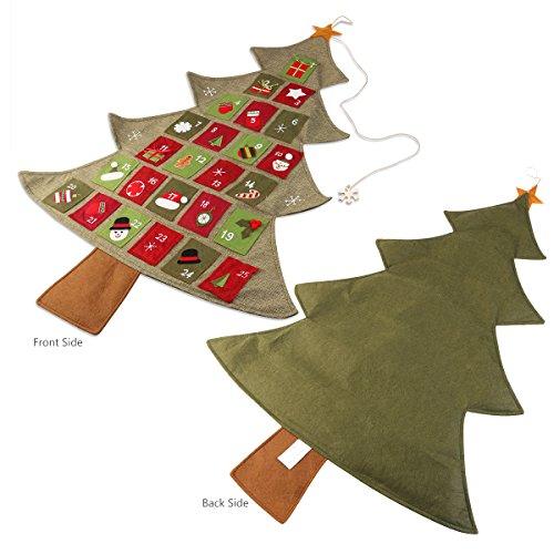 [해외]크리스마스에 NICEXMAS 크리스마스 강림 달력 카운트 다운, 35inch에 의해 25.2/NICEXMAS Christmas Advent Calendar Countdown to Christmas, 25.2 by 35