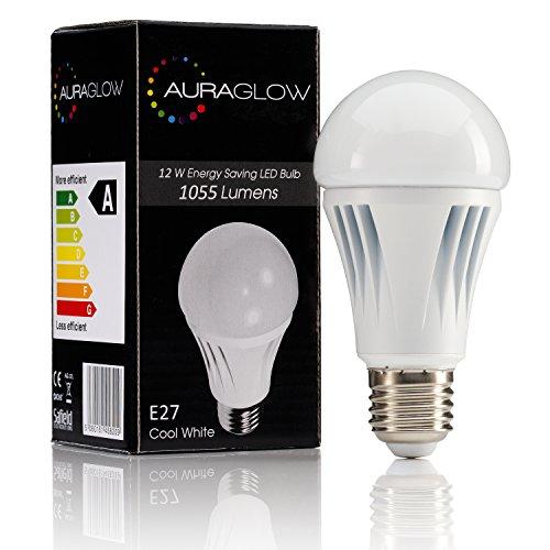AURAGLOW-12w-LED-Glhlampe-E27-Schraubsockel-Tageslicht-wei-Entspricht-75w