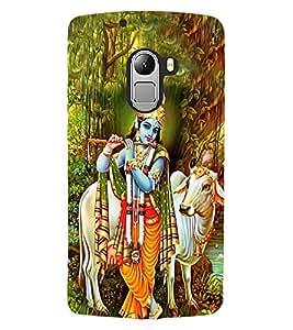 ColourCraft Lord Krishna Design Back Case Cover for LENOVO VIBE K4 NOTE