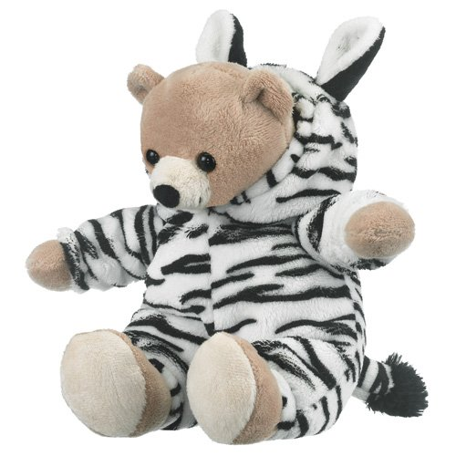 Bear In Zebra Costume, Wildlife Artists Plush Stuffed Animal, Teddy Bear front-946272