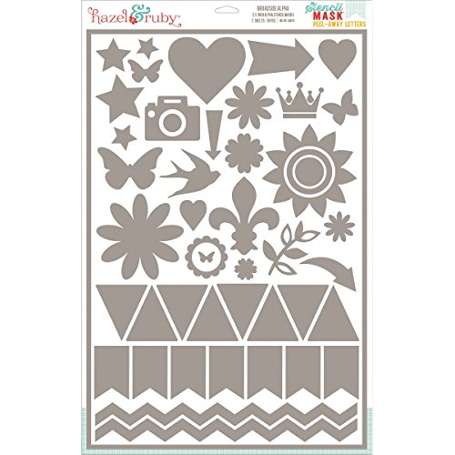 Hazel & Ruby Hrsm317 Peel Away Shapes Stencil Mask Sheet, 12 By 18-Inch, Everyday