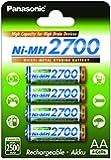 Panasonic BK-3HGAE/4BE - piles AA NI-MH 2700 recargables de gran capacidad (2.500 mAh, 4 unités)