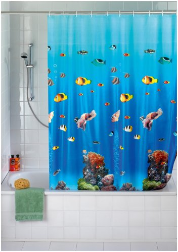 wenko shower curtain 180x200 ocean peva at shop ireland. Black Bedroom Furniture Sets. Home Design Ideas