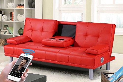Divano Rosso Ecopelle : Sleep design manhattan u2013 divano letto in ecopelle 3 posti moderno