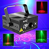 Sumger RGB 3 Lens 40 Patterns Mixing Laser Projector Stage Lighting Effect Blue LED Stage Lights Show Disco DJ Party Lighting