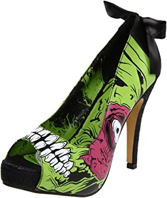 Iron Fist Women's Zombie Stomper Platform Pump,Green/Black,8 M US