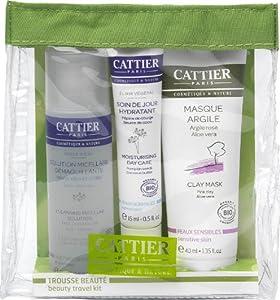 Cattier Trousse Beauté Solution Micellaire 50 ml + Soin Hydratant 15 ml + Masque Argile Rose 40 ml