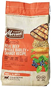 Merrick Classic 5-Pound Adult Real Beef, Whole Barley and Carrots Dog Food, 1 Bag