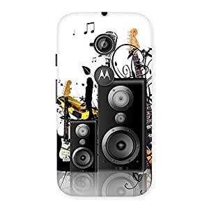Cute Music Comp Multicolor Back Case Cover for Moto E 2nd Gen