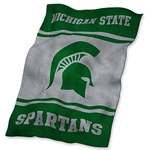 Michigan State Spartans NCAA UltraSoft Fleece Throw Blanket by Logo Chair
