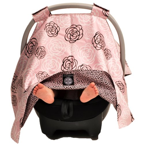 Balboa Baby Car Seat Canopy, Pink Camellia