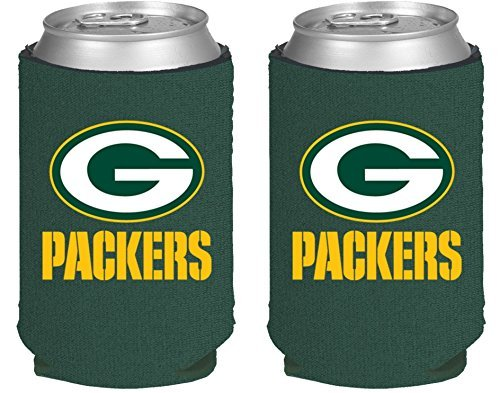 NFL Football 2014 Team Color Logo Can Kaddy Holder Can Cooler 2-Pack (Green Bay Packers) (Green Bay Packers Can Holder compare prices)