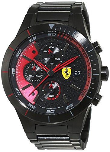 Scuderia Ferrari Orologi hombre-reloj Red Rev EVO analógico de cuarzo chapado en acero inoxidable 0830264