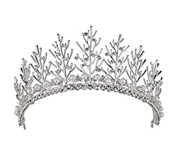 Stuffwholesale Stunning Women Girl Crown Tiaras Prom Pageant Rhinestone Headwear with Bobby Pins (#6)