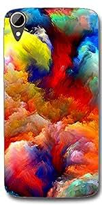 SEI HEI KI Designer Back Cover For HTC Desire 828 - Multicolor