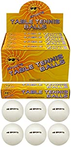 6 x Plain White (logo free) Special Quality Table Tennis Balls. 40mm.
