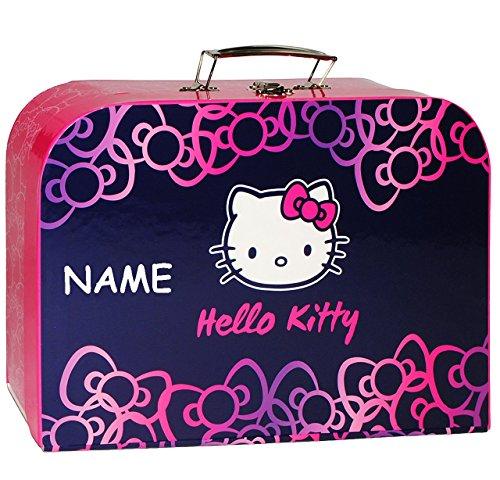Pappkoffer-Kinderkoffer-Hello-Kitty-Ktzchen-incl-Name-Gro-Koffer-Puppenkoffer-Reisekoffer-aus-Pappe-mit-Metall-Griff-Katze-Schleife-fr-Kinder-Mdchen