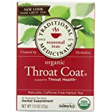 Traditional Medicinals Organic Throat Coat, 16-Count Boxes (Pack of 6) ~ Traditional Medicinals