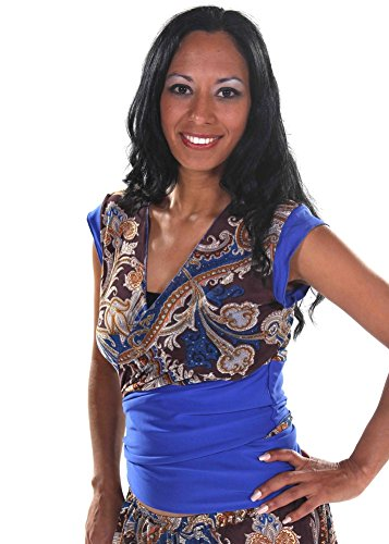 Belly Dance Wrap-Around Patterned Top | Petra's Blouse