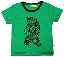 Buzzy Baby Boys' 12-18 Months Cotton T- Shirt (Green)