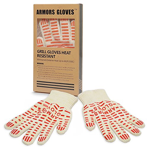 Armors Gloves (Single Glove) - Professional Premium Cooking Gloves Heat Resistant - Withstand Heat Up To 662°F, Flexiable 5 Finger
