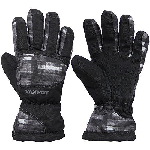 VAXPOT(バックスポット) グローブ スキー用 ジュニア向け 5本指タイプ VA-3960 MON(PAINT) 130cm