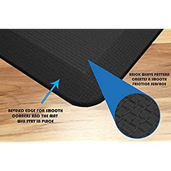 Royal Anti-Fatigue Comfort Mat - 20 in x 39 in x 3/4 in - Ergonomic Multi Surface, Non-Slip - Waterproof All-Purpose Luxurious Comfort - For Kitchen, Bathroom or Workstations - Black