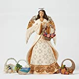 Jim Shore Seasonal Angel Figurine with Four Baskets