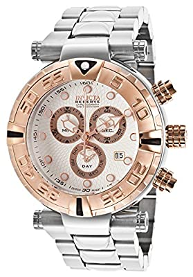 Invicta 17683 Men's Subaqua Reserve Chrono Stainless Steel Textured Silver-Tone Dial