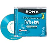 Sony 8cm DVD plus RW with Hangtab 3 Pack