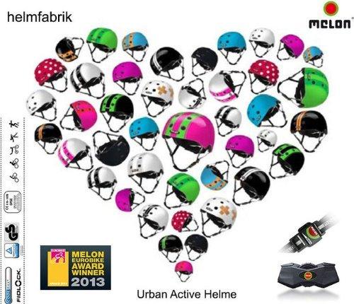 Melon Urban Active Helme - Alle Designs - das ganze Sortiment, Melon Fahrradhelm, Skatehelm, BMX-Helm, Größe einstellbar. von Melon