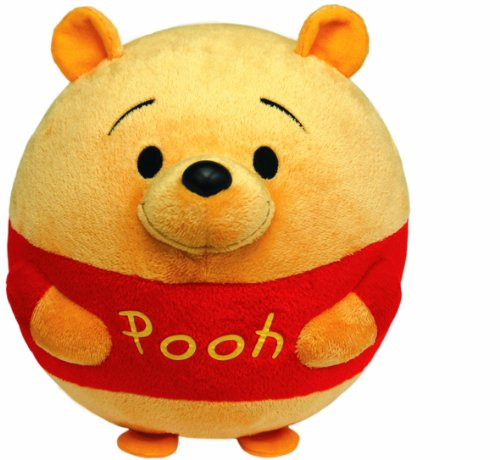 Ty Beanie Ballz Winnie The Pooh Plush, Bear, Medium front-1048460
