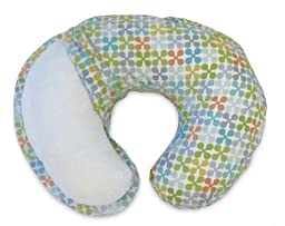 Maven Gifts: Boppy Bare Naked Feeding and Infant Support Pillow, White with Classic Jacks Slipcover, Multicolored - Machine Washable