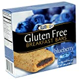 Glutino Gluten Free Breakfast Bars, Blueberry, 5-Count Boxes (Pack of 6)