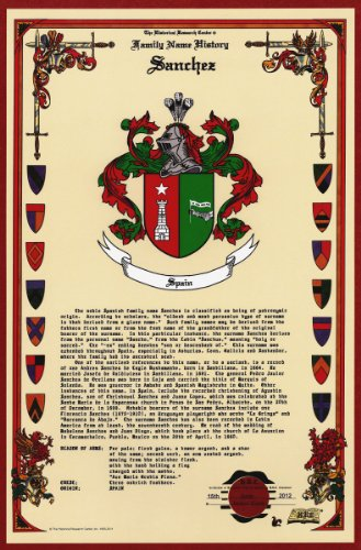 Sanchez Coat Of Arms/Crest And Family Name History, Meaning & Origin Plus Genealogy/Family Tree Research Aid To Help Find Clues To Ancestry, Roots, Namesakes And Ancestors Plus Many Other Surnames At The Historical Research Center Store front-486818