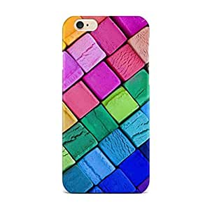 QRIOH iPhone 6 Case, Premium Quality SCRATCHPROOF Colourful Bricks Transparent Case for 4.7 inches iPhone 6