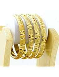 BDF Gold Plated Designer Antique Bangles. A Pair Of 4. Product Design May Differ As Per The Photography.Available...