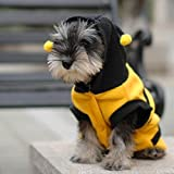 【ノーブランド 品】ペット パーカー 服 犬 猫 コート 子犬アパレル ファンシービー コスチューム 衣装 全5サイズ選べる - M