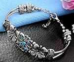 Tibet Tibetan Silver Flower Bracelet...