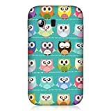 Head Case Designs Kawaii Green Owl Patterned Case for Samsung Galaxy Y S5360