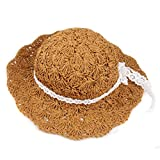Jewelry Kingdom Baby-Girls Infant Bow Straw Hat Sunhat (Coffee)