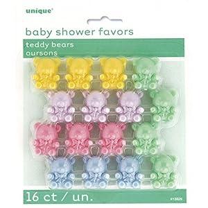 Baby Shower Favours Multi coloured Teddy Bears - pk16 marca Dropship en BebeHogar.com