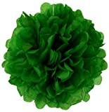 Tissue Pom Pom Paper Flower Ball 16inch Kelly Green -Just Artifacts Brand