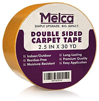 Rug Tape Double Sided, 2.5 Inches x 30 Yards, Double-Sided Carpet Tape by Melca by Melca