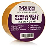 Rug Tape Double Sided, 2.5 Inches x 30 Yards, Double-Sided Carpet Tape by Melca