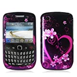 Purple Love Design Crystal Hard Skin Case Cover for Blackberry Curve 8520 8 ....